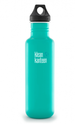 Klean Kanteen Stainless Steel Bottle - 800ml/27oz (Loop Cap)